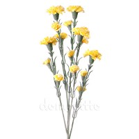 Гвоздика искусственная ветка желтая, 68 см