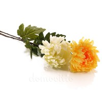Хризантема искусственная, 83 см. Цвет: Белый, Желтый