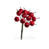 """Мини букетик """"Яблочки красные"""" 1,3 см 12 шт"""