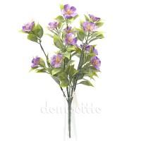 Кустик с сиреневыми цветами, 35 см