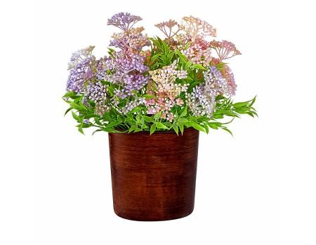 Кустик с мелкими сиреневыми цветочками, 30 см