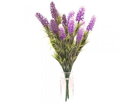 Лаванда искусственная, 33 см. Цвета: Фиолетовый, Бело-сиреневый