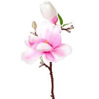 Магнолия искусственная розовая, 35 см