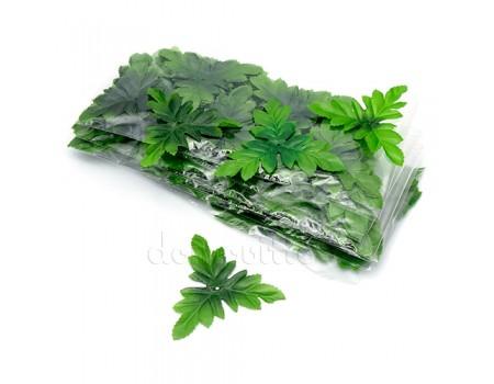 Набор искусственных листьев тройных, 50 шт
