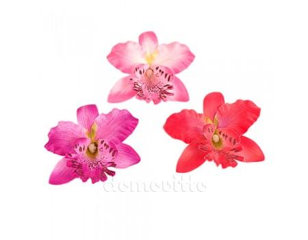 Голова орхидеи цимбидиум искусственная, 8 см. Разные цвета