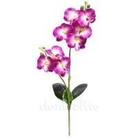 Орхидея искусственная двойная, 50 см. Цвет: Лиловый, Белый
