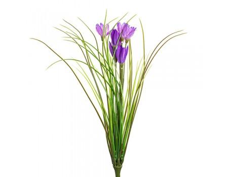 Первоцвет весенний искусственный, 36 см. Цвета: Фиолетовый, Белый