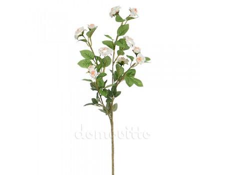 Ветка розы с мелкими цветами, 72 см. Цвет: Белый
