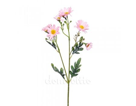 Веточка ромашки розовая, 47 см
