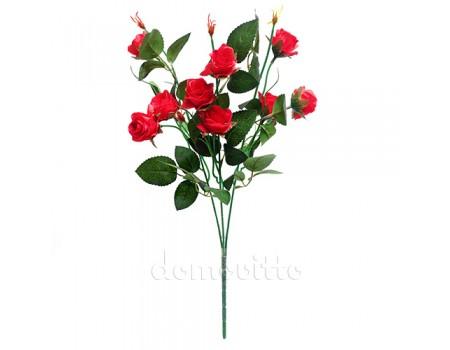 Ветка розы искусственная тройная, 45 см. Разные цвета