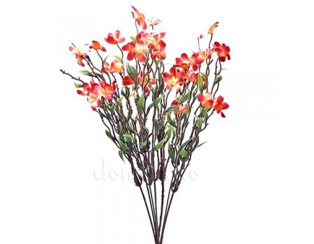 Веточка с цветами весенняя пластик, 38 см. Разные цвета