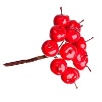 """Мини букетик """"Яблочки красные"""" 1,8 см 12 шт"""