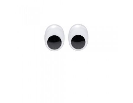Глаза овальные большие, 6 шт. Диаметр: 20 мм