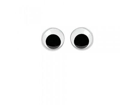 Глаза круглые большие, 6 шт. Диаметр: 20 мм / 24 мм
