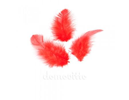 Перья пушистые крашеные, набор 10 шт. Разные цвета