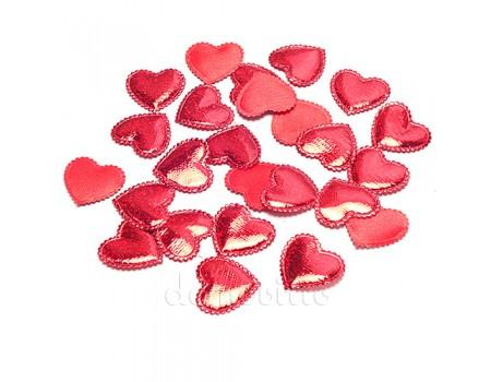 Набор красных сердечек блестящих 2,5 см, 50 шт