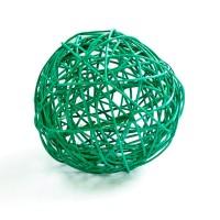 Плетеный шар большой зеленый, d15 см