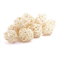 Набор плетеных шаров, диаметр 3 см, 12 шт. Цвет: Белый