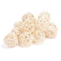 Набор плетеных шаров, диаметр 5 см, 12 шт. Цвет: Белый
