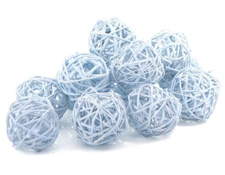 Набор плетеных шаров, диаметр 5 см, 12 шт. Цвет: Голубой