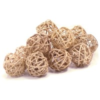 Набор натуральных плетеных шаров, диаметр 5 см, 12 шт