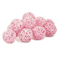 Набор плетеных шаров, диаметр 5 см, 12 шт. Цвет: Светло-розовый