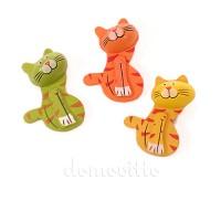 Мартовские коты на стикере. Разные цвета