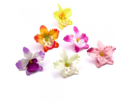 Голова орхидеи искусственная, 6,5 см. Разные цвета
