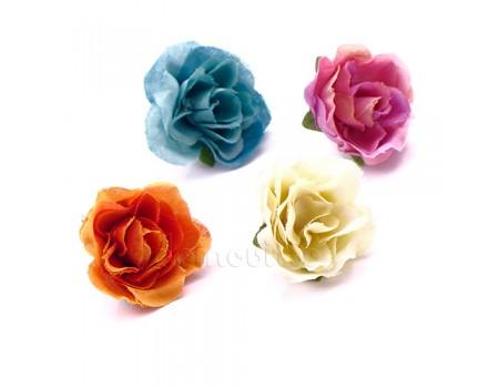 """Цветочная головка """"Розочка"""", 3 см. Разные цвета"""
