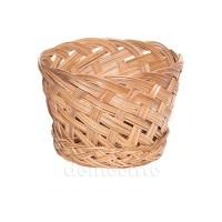 Кашпо плетеное декоративное, d14 см. Цвет: Натуральный