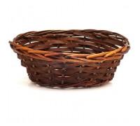 Кашпо из ивы овальное коричневое, 16х24хH9,5 см