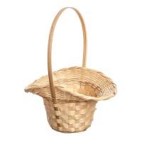"Корзина плетеная ""Шляпа"", 15хd10xH33 см. Разные цвета"