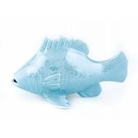 """Фигура керамическая """"Рыба"""", 10х17 см. Цвет: Белый, Голубой"""