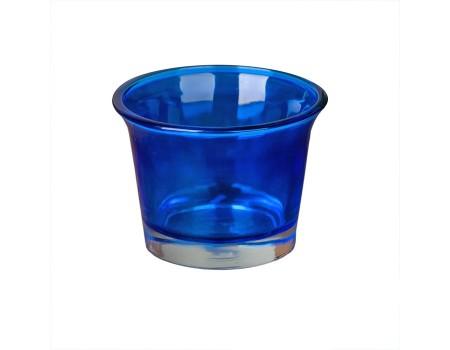 Подсвечник синий для чайной свечи, 5х6 см