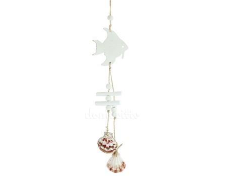 Морская подвеска с рыбой. Цвет: Белый, Голубой
