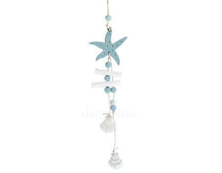 Морская подвеска со звездой. Цвет: Бело-голубой
