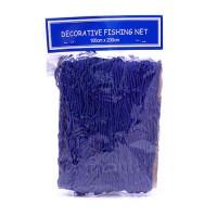 Сеть рыбацкая декоративная синяя, 100 х 200 см