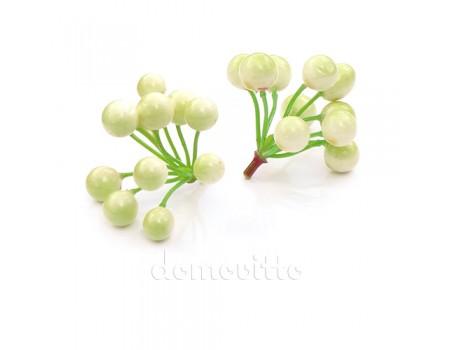 Вставка ягодная искусственная, d7хH6 см. Цвет: Бело-зеленый