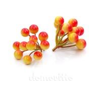 Вставка ягодная искусственная, d7хH6 см. Цвет: Оранжевый