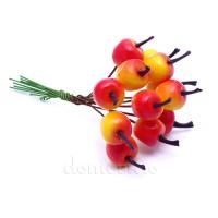 """Мини букетик """"Яблочки желто-красные"""", 12 шт"""