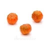 Тыковки мини глянцевые, 2,5 см. Цвет: Оранжевый с зеленым