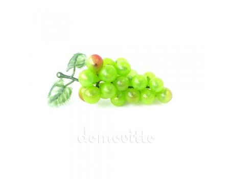 Искусственный виноград мини, 9 см. Цвет: Зеленый