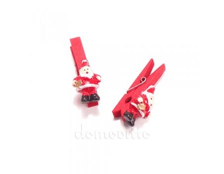 Дед Мороз со звездой на прищепке, 4,5 см
