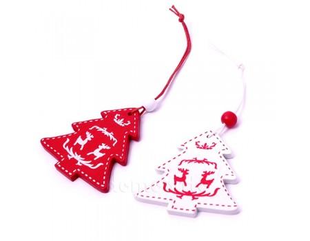 """Подвеска новогодняя """"Елочка"""", 5,5 см. Цвета: Красный, Белый"""