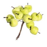 """Зимний букетик """"Яблочки зеленые в инее"""", 10 см"""