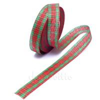 "Лента текстильная ""Шотландка"", 24 мм х 1 метр"