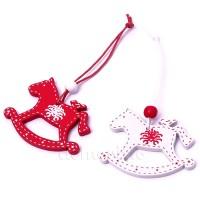 """Подвеска новогодняя """"Лошадка"""", 5,5 см. Цвета: Красный, Белый"""