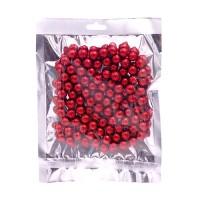 Набор красных шариков с блестками. Два размера