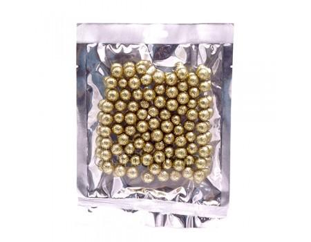 Набор золотых шариков с блестками. Два размера