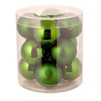 Набор темно-зеленых шариков мини, 12 шт. Диаметр: 3 см / 4 см